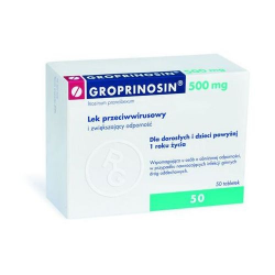 GROPRINOSIN 0,5 g - 50 tabletek