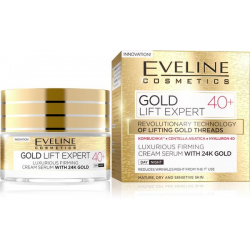 EVELINE Gold Lift Expert, krem-serum ujędrniające 40+, 50ml