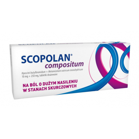 SCOPOLAN compositum 10 mg + 250 mg - 10 tabletek