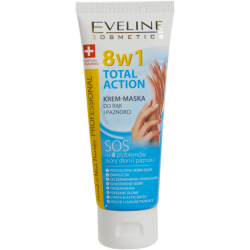 EVELINE TOTAL ACTION Krem - maska do rąk i paznokci 8w1 - 75 ml