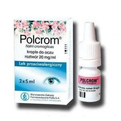 Polcrom 2% krople oczne 2 x 5 ml