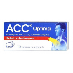 ACC OPTIMA 600 mg - 10 tabl.mus